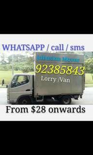 Mover and delivery service call/ WHATSAPP 92385843 JohnsionMover