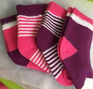 Baby Socks Pack of 4 Pairs for 1-3 years old