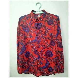 Sheer office blouse