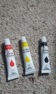 12ml water colour paint tubes