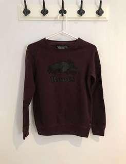 Roots Crewneck (W/ Leather Beaver)   Size XXS
