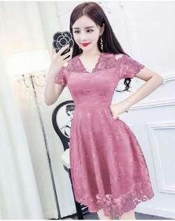 wo DRESS HANIN PINK OT