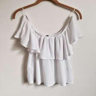 New Off the Shoulder Frill Top