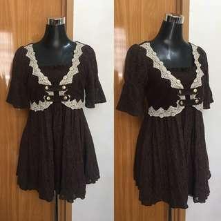 Dark Brown Lace Dress
