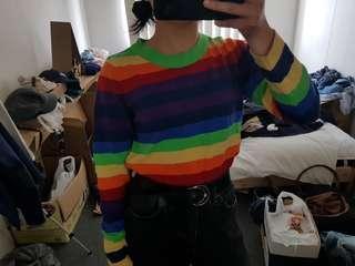 ASOS Rainbow crew neck long sleeve
