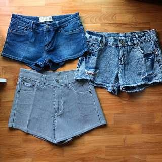 Low/Mid/High Waisted Denim Shorts