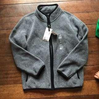 Uniqlo unisex fleece full zip jacket