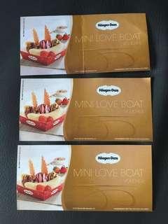 平賣包郵💫Haagen-Dazs Mini Love Boat