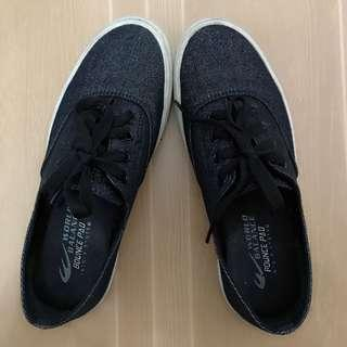 Glittery black shoes