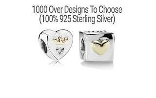 Over 1000 Designs (925 Sterling Silver) To Choose From, Compatible With Pandora, T165