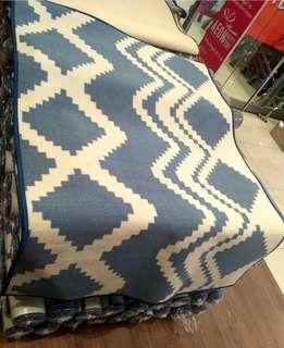 Karpet Modern Biru