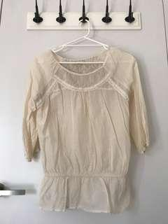 Forever 21 lace cream top