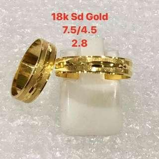 18k Sd Wedding Ring/ Couple Ring