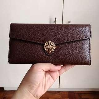 Chocolate Brown Accent Trifold Wallet from Hong Kong