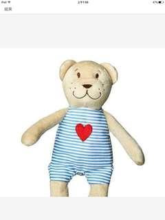 🚚 近新 IKEA 熊 娃娃 玩偶 安撫娃娃 安撫巾