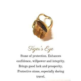 Tiger's eye raw ring