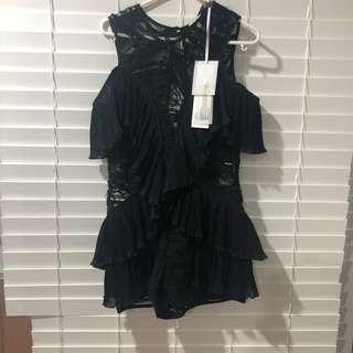 Alice McCall black playsuit size 4 brand new
