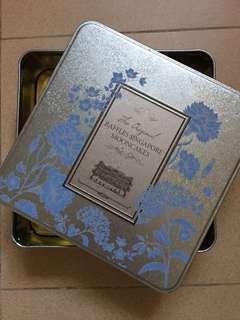 2018 Raffles Hotel Collectible Blue mooncake Box
