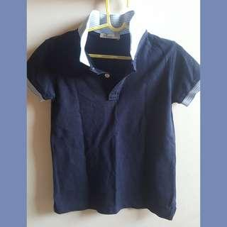 Justees blue polo shirt