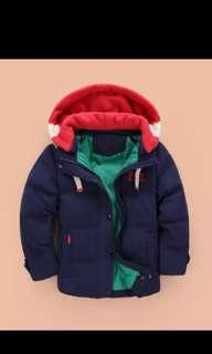 Brand new Boys Winter Jacket Sweater Coat with removable hat