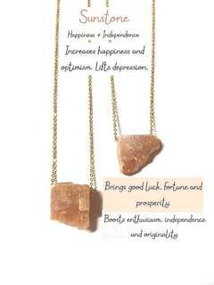 Sunstone Raw necklace