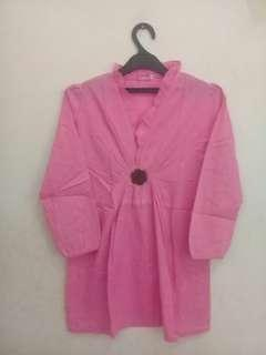FREEONG Pink Blouse