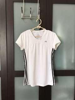 Adidas White Dri-fit Shirt Climacool
