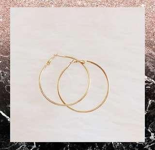 Hoop earring gold 5cm