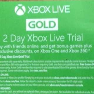 Xbox live gold trial 2 day