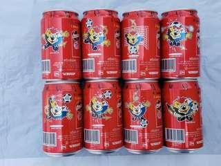 可口可樂……泰國2000年歐洲杯紀念罐( 一套八款), 送冠軍紀念罐