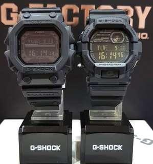 PAIR💝SET : 1-YEAR OFFICIAL WARRANTY : 100% ORIGINAL AUTHENTIC G-SHOCK in DEEP BLACK OUT ABSOLUTELY TOUGHNESS In Stealth Resin Band BEST GIFT For Unisex & Most Rough Users : GD-350-1BDR / GD350 / GD-350-1B / GX-56BB / GX-56 / GX56 / GX56BB