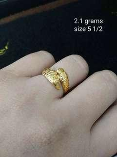 18k Sd Arwana lucky ladies Ring