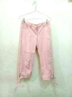 FREEONG Pink Tied Up Trousers