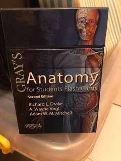 Gray's anatomy for students flash card second edition