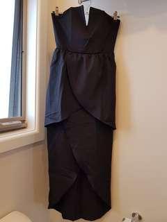 Luvalot Black Layered Symmetrical Dress