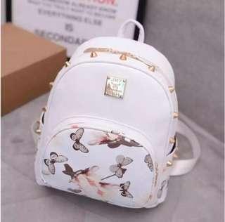 White Fashion backpack
