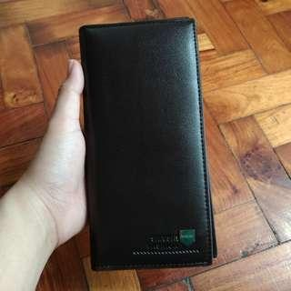 Dark Brown Bifold Patent Leather Wallet from Hong Kong