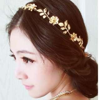 (NEW) 歐美髮箍森女系頭箍鏈條復古髮飾品頭鏈 head chain hair band