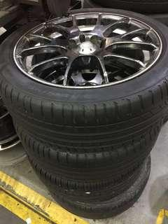 Used Tyre and rim 215/45/17 . From $20