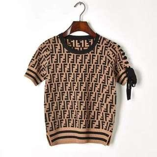 Fendi Inspired Knitted Top
