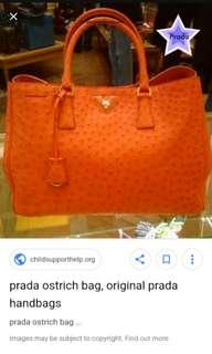Prada orange double bags