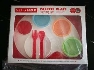 Brand new skip hop palette plate feeding set