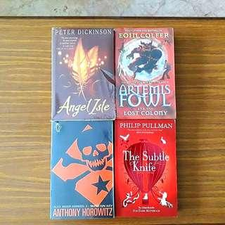 4 for $12: Artemis Fowl And The Lost Colony; Angel Isle; Skeleton Key; The Subtle Knife #1515