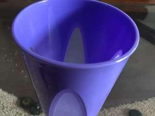 Purple square glass 300 ml