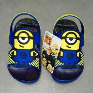 Minions Slipper Sandals with Heel Straps