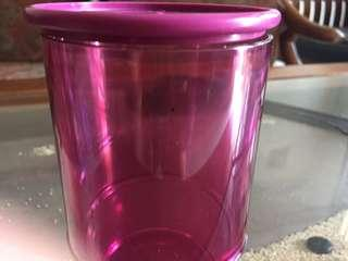 Purple oval glass 250 ml