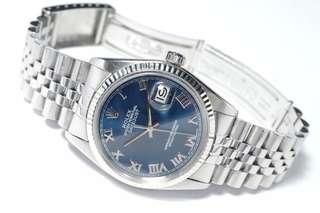 🚚 Rolex Datejust Blue Roman Dial 16014