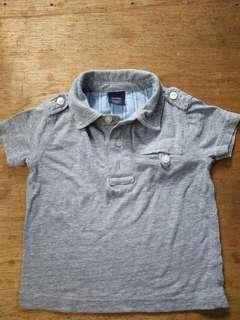Baby Gap grey polo shirt ₱80 6-12MOS