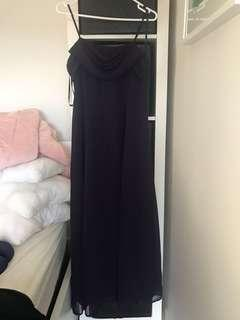 Dark purple size 12 evening gown
