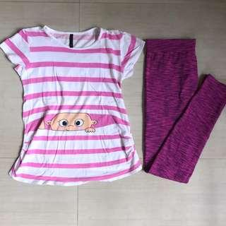 Pink Casual Maternity Wear